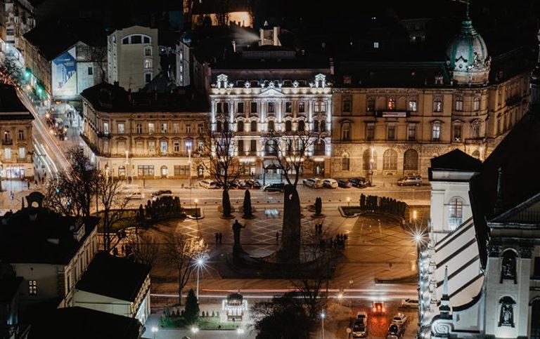 Widok z okna podczas wyjazdu indywidualnego we Lwowie
