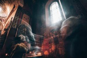 Wnętrze kościoła we Lwowie