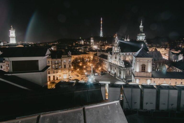 Widok na miasto na Ukrainie